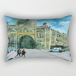 Sunny day on Flinders Street Rectangular Pillow