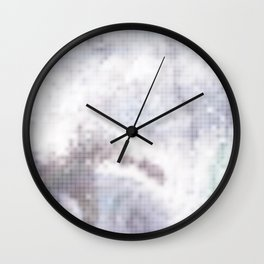 An abstract beautiful disco background (texture) with sequins. Wall Clock