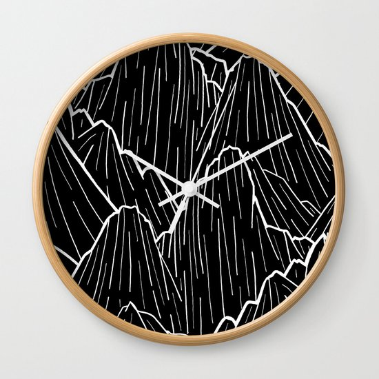 the dark mountain range wall clock by steve wade swade. Black Bedroom Furniture Sets. Home Design Ideas
