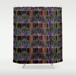 parallel interference Shower Curtain
