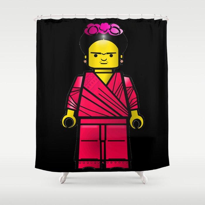 Frida Blocks Shower Curtain