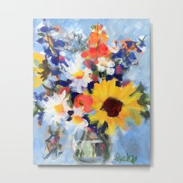 Sunny Day Bouquet Metal Print