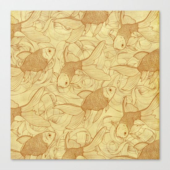Vintage Goldfishes II Canvas Print