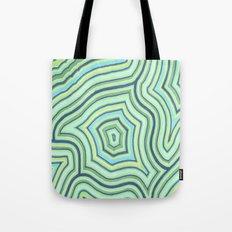 Blue Green Pattern Tote Bag