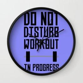 Workout in Progress  Bzu78 Wall Clock