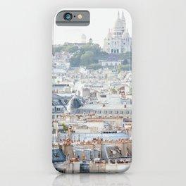 Montmartre Vista - Paris Travel Photography iPhone Case