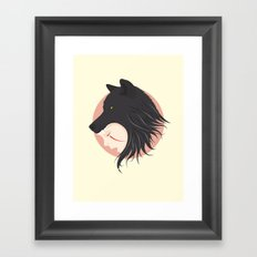 Boy Cries Wolf Framed Art Print