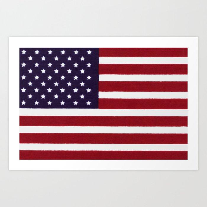 """Stars & Stripes flag, painterly """"old glory"""" Kunstdrucke"""