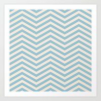chevron Art Prints featuring Chevron by Patterns and Textures