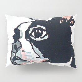 Boston Terrier Dog Portrait Pillow Sham