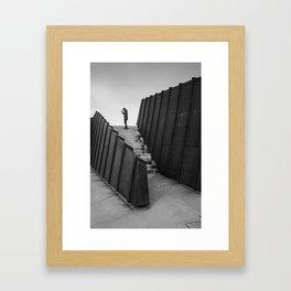 Lone Man Framed Art Print