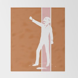 Rusty Rose Revolution Throw Blanket