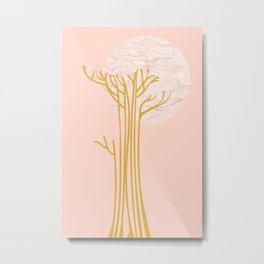 New Beginnings - Pink & Gold Metal Print
