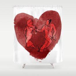 Colgada de Corazon Shower Curtain