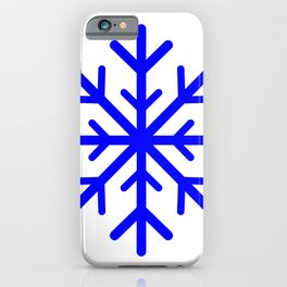Snowflake (Blue & White) iPhone Case
