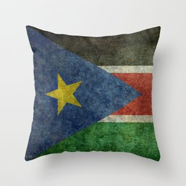 Republic of South Sudan national flag - Vintage version Throw Pillow