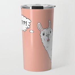 Llama WTF Travel Mug