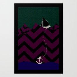 Anchor Drop Art Print