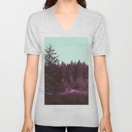 Purple forest Unisex V-Neck