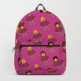 Building Blocks People, Light Pink Brick Characters Backpack
