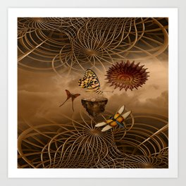 Steampunk Nature Art Print