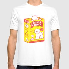 BICHON CRUNCH Mens Fitted Tee MEDIUM White