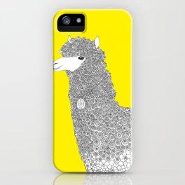Yellow-Alpaca iPhone Case