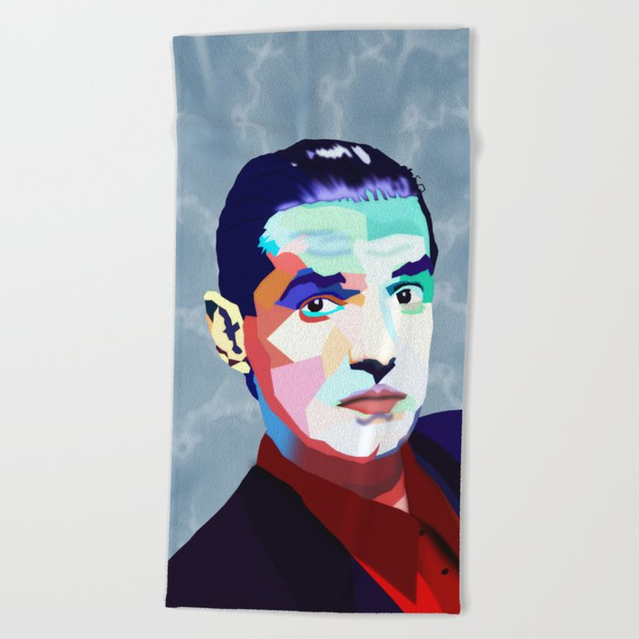 Portrait of Hans Holzel (Falco) Beach Towel