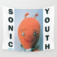 sonic Wall Tapestries featuring Sonic Youth - Dirty by NICEALB