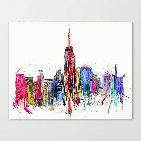 new york inked  Canvas Print