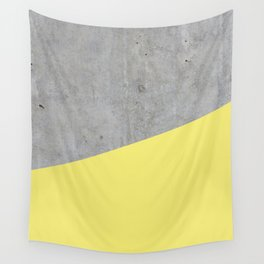 Concrete and Yellow Color Wall Tapestry
