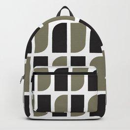 Geometric Pattern #41 (black gray) Backpack
