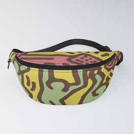 Keith Art, Exhibition Poster, Japan Vintage Print Fanny Pack