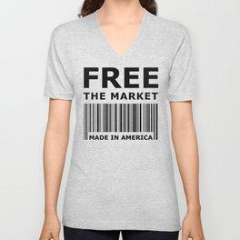 Free The Market Unisex V-Neck