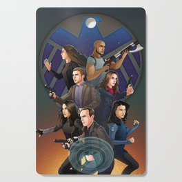 SHIELD Team In Action Cutting Board