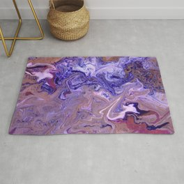 Purple Marble Swirls Rug