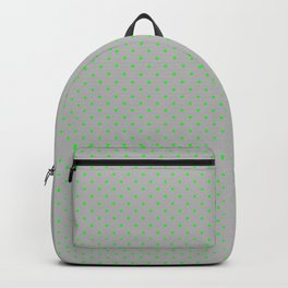 Extra Small Lime Green on Silver Polka Dots | Backpack