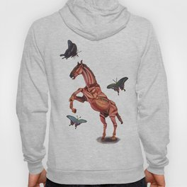 horse and butterfly Hoody