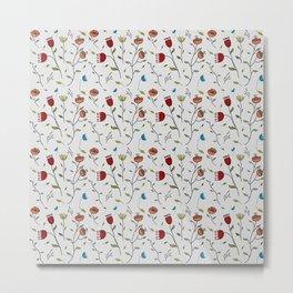 Floral Spice, Flowers Print Pattern Metal Print