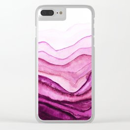 Washed Away Pink Watercolor Clear iPhone Case