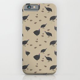 GuineaFowl tan iPhone Case