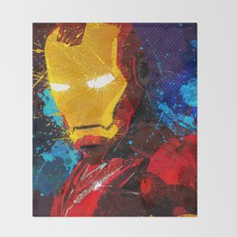 Iron man I Throw Blanket