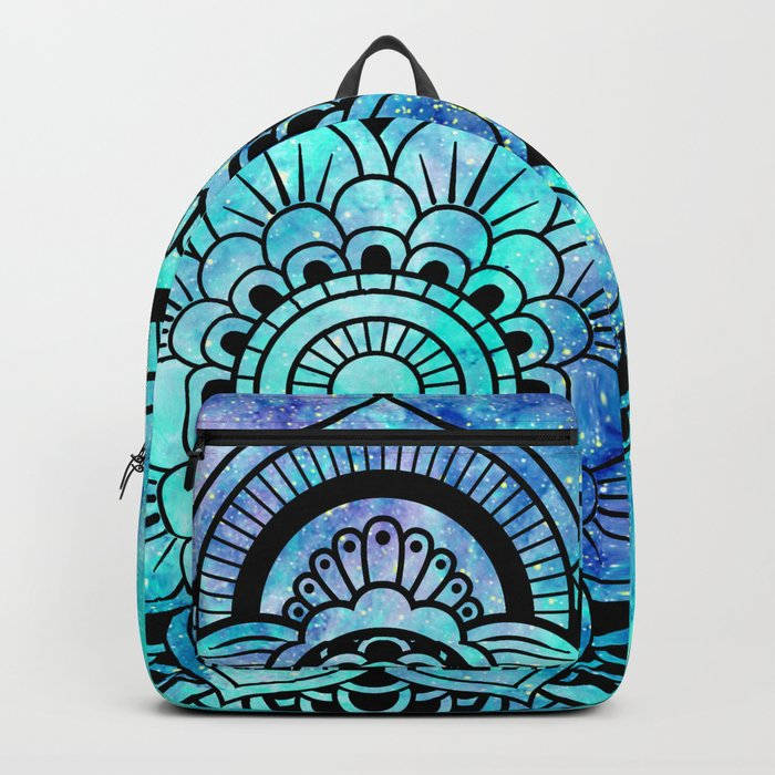 Galaxy Mandala Aqua Indigo Backpack