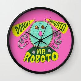 Donut Arigato Wall Clock