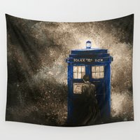 dr who Wall Tapestries featuring Dr. Who by Redeemed Ink by - Kagan Masters