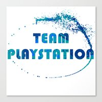 playstation Canvas Prints featuring Team Playstation by Bradley Bailey