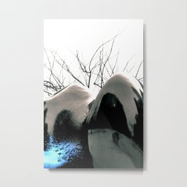 Reflecting Blue of Winter Metal Print