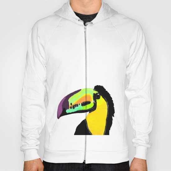 Toucan with colourful beak  Hoody