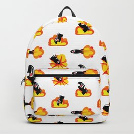 Boom! Pop Art Style Cartoon Bombs and Missiles Backpack