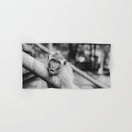 Cute Monkey (Black and White) Hand & Bath Towel
